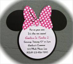 21+ Awesome Minnie Mouse Invitation Templates & Designs | Free & Premium Templates