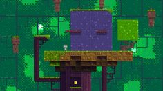 Beautiful still from Fez, a new game by Polytron Corporation.