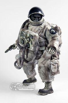 3A Adventure Kartel Dead Astronaut Gangsta White 1/6 12.5 32cm Collectible Figure ThreeA ThreeA Toys