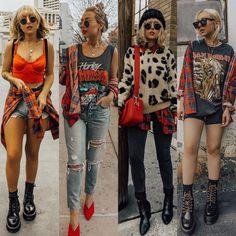 Rock Chic Outfits, Cute Casual Outfits, Boho Outfits, New Outfits, Fall Outfits, Fashion Outfits, Grunge Fashion, Boho Fashion, Mode Hippie