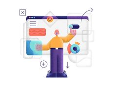 UI Guy designed by Makers Company. Connect with them on Dribbble; Flat Illustration, Character Illustration, Saint Charles, Show And Tell, Character Design, Guys, Motion Graphics, Illustrator, Workshop
