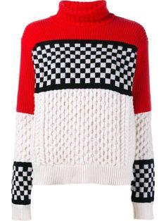 Achetez Ashley Williams checked cable knit jumper en Browns from the world's best independent boutiques at farfetch.com. Découvrez 400 boutiques à la même adresse.
