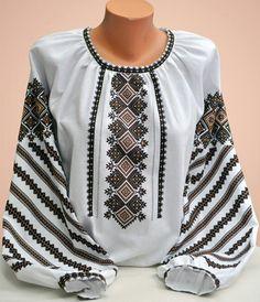 Ukraine, from Iryna Folk Fashion, Ethnic Fashion, Womens Fashion, Embroidered Clothes, Embroidered Blouse, Ethno Style, Ukrainian Dress, Embroidery Fashion, Kurta Designs