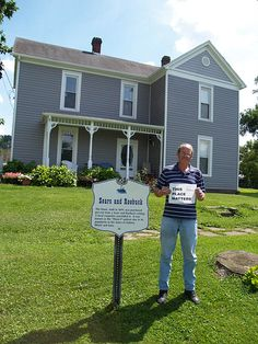 """Many people think they have a """"Sears"""" house when they actually do not.  I can help you identify those so you won't take your picture in front of one that isn't like this man!"""
