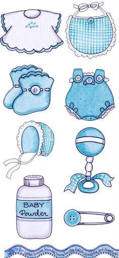 ropa azul