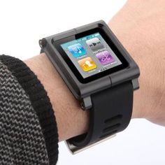 Banggood Aluminum Multi-touch Watch Band Wrist Strap Bracelet Cover Case for iPod Nano 6