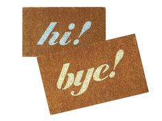 Stencil a Greeting Onto a Doormat  - Take Basic Household Items From Boring to Brilliant on HGTV