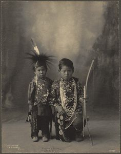 Attendees Of The 1898 Indian Congress [Two Little Braves, Sac & Fox] By Boston Public Library.