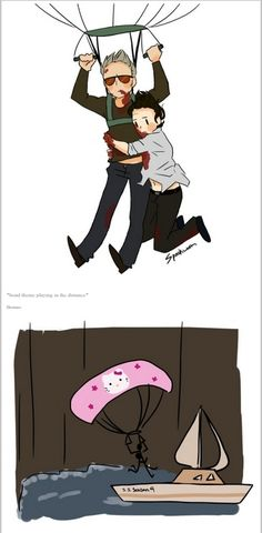 I love everything about this. XD (Hannibal fan art. Source: spookworm.tumblr)
