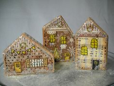 Christmas village Christmas houses holiday decoration nativity whimsical retro Victorian wooden houses home décor ornaments