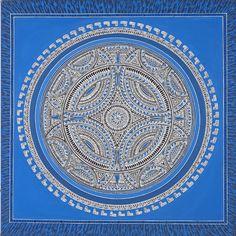 ❤⊰❁⊱ Mandala⊰❁⊱ Indian Bowl Blue Mandala