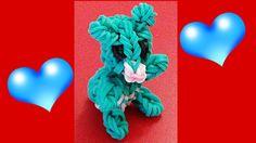 NEW Rainbow Loom Teddy Bear (3D Animals) Charm : How to make with Loom bands tutorial by DIY Mommy.