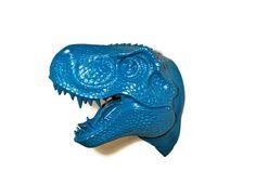 T-Rex Dinosaur Head Wall Mount  Teal / Aqua  by NearAndDeer