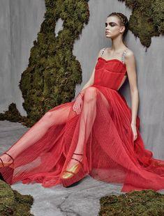Dasha Khlystun in Dior photographed by Jason Kibbler for Numéro, April 2017.