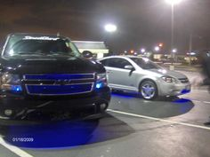 I actually like the blue lights in the grill!!  but not the street glow...  lol