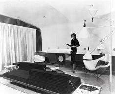 theniftyfifties:    1950s futuristic home decor.