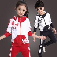 51.69$  Buy here - http://ali1vm.worldwells.pw/go.php?t=32720241656 - 2016 spring new fall and winter clothes children's clothing girls sports suit kids clothes children coat sweater piece 51.69$