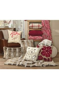 Snuggly throws and cushions
