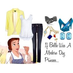 If Belle Was A Modern Day Princess..., created by maddie-minnesota on Polyvore
