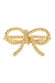 Forget-Me-Not Bow Ring by Beyond Rings on @HauteLook