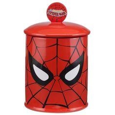 Marvel Spiderman Cookie Jar (Spiderman), Red (Ceramic, Solid)