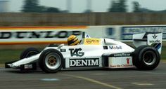 Ayrton Senna - Williams FW08C first F1 test 1983