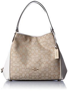 COACH Women's Signature Edie 31 Shoulder Bag LI/Light Kha... http://a.co/cRKsBF9