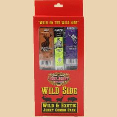 Buffalo Bob's Game Sample Pack - wild game stick boxes make an excellent gift for the holidays or to send overseas to the troops! From the Beef Jerky Outlet Greenville, SC store Game Stick, Bob S, Beef Jerky, Troops, Buffalo, Packing, Holidays, Store, Gift