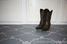 how to stencil your porch floor, flooring, how to