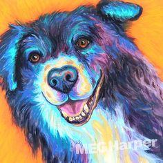Einstein ~ Pet Dog Portrait ~ Meg Harper — Meg Harper Art  #dog #puppy #best friend #inspirational #kindness #animalpainting #art #painting #pets #petportrait #animal #love #megharper #megharperart