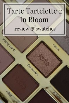 Tarte Tartelette 2 In Bloom Amazonian Clay eyeshadow palette review and swatches