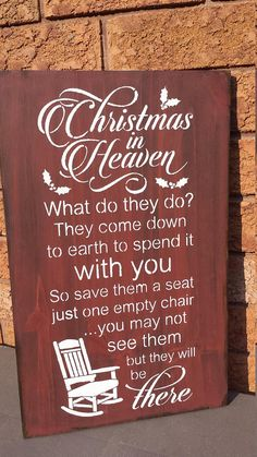 Trendy Ideas For Quotes Christmas Love Diy Gifts Christmas Chair, Christmas Signs Wood, Christmas Quotes, Christmas Time, Christmas Decorations, Christmas Ideas, Christmas In Heaven Poem, Winter Christmas, Holiday Ideas