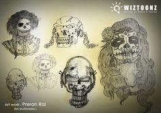 Student Art Work - by Preran Rai, B.A Multimedia Batch.  #BAinMultimedia #MAinMultimedia #MultimediaCourses www.wiztoonz.com