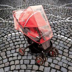 Bebek Arabası Yağmurluğu-Kırmızı