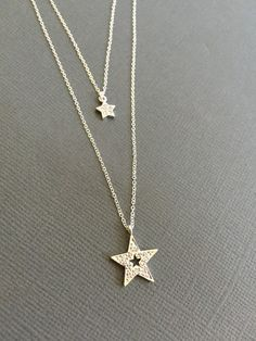 Silver Star Necklace, Mother daughter Necklace, You're my star, cut out star layred necklace, Mother child necklace, Gift for Grandmother
