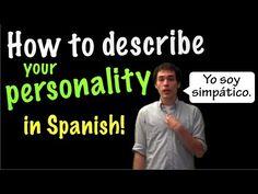 Sr. Jordan's Personal Description Video - ¿Cómo eres? & describing personality (Pt. 1) - YouTube