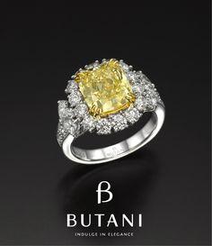 Butani Fancy Yellow Diamond Ring.