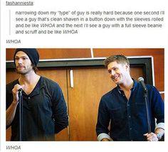 because of supernatural, amen, winchester boys, supernatur rule, #supernatural, bahaha, accur, tattooed guys, true stories