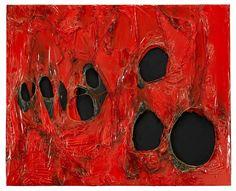 Alberto Burri - Rosso Plastica, 1963