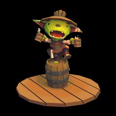 The Goblin Brewer from our in development game - Goblins of Elderstone, what do you guys think? C&Cs welcome!