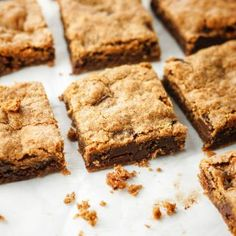 This Paleo & Vegan Almond Butter Blondies are easy, delicious, and packed with healthy fats from almond butter and chia seeds. One of my go-to desserts!