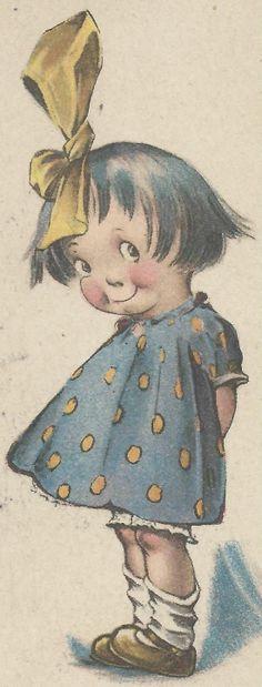Adorable Girl on Twelvetrees Signed Vintage 1922 Postcard | eBay