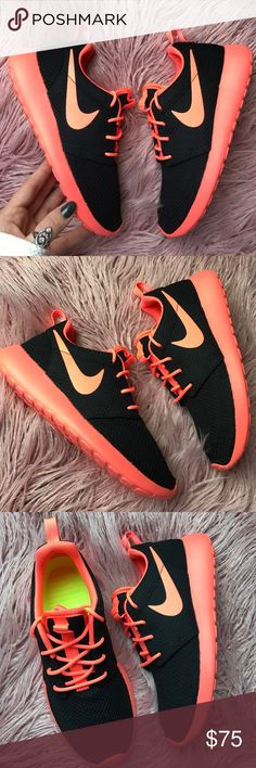 Men's Nike Roshe Two Casual Shoes Black/Gym Red/White