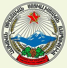 Coat of arms of the Armenian SSR...