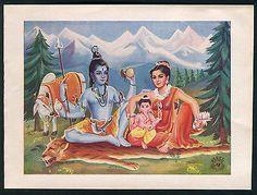 India vintage Hindu God Shiva Shankar stationery 5