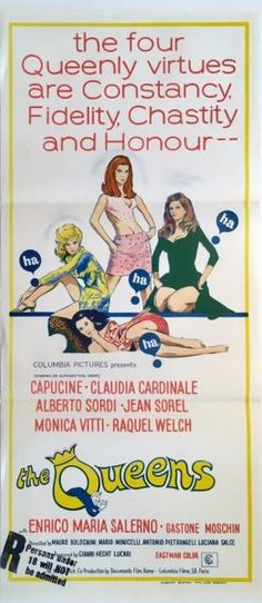 Queens, The (Le fate) original 1966 Australian/NZ Daybill movie poster. Available for purchase from our website.