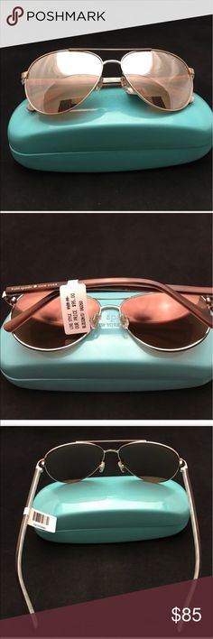 PRICE🔽LAST PAIR! Kate Spade Sunglasses Rose Gold Kate Spade Sunglasses NWT/Blossom.  Rose Gold. Mirrored Aviators.                                           ✅ALWAYS OPEN TO OFFERS-unless marked firm on price                                                                      ✅OFFERS SHOULD BE MADE THROUGH POSH OFFER FEATURE.  ✅PRICES NOT DISCUSSED IN COMMENTS  ✅FEEL FREE TO ASK ANY QUESTIONS  ✅MSRP  $95 + tax  ❎NO TRADES kate spade Accessories Sunglasses