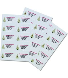 New Mabel's Labels Holiday Return address labels.