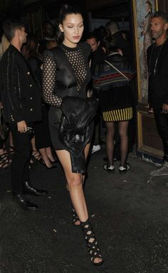 Bella Hadid the Balmain Spring 2016 show after party