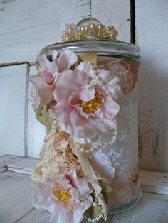 Beautiful gift jar☀ ☀ I regularly giveaway a FREE Funky Hostess Apron ☀ ☀  CLICK here for details==> www.facebook.com/TrophyWifeAprons
